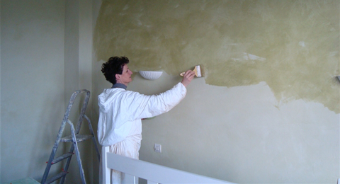 Incroyable Appliquer Une Peinture à La Chaux